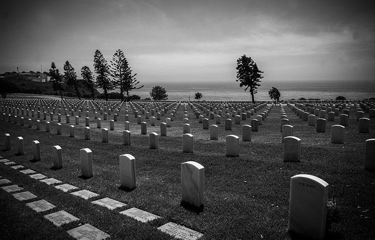 Military graveyard in San Diego, CA