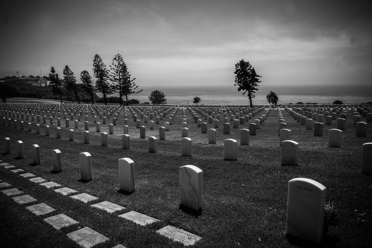 Military graveyard in San Diego, CA