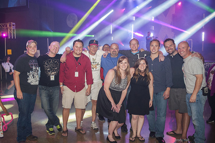 Volunteers and staff of the Miracle Party group photo