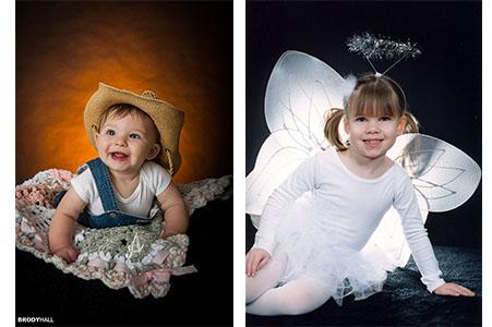 children in photo studio