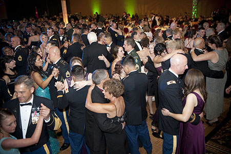 Guest dancing at the 60th Anniversary of the United States Army Special Forces Ball, at the Broadmoor in Colorado Springs, CO.