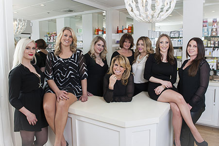 Business group shot for Susan's Organic Spa