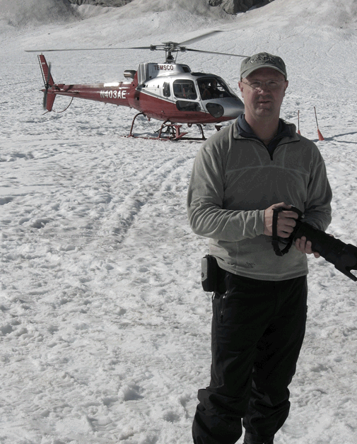 Brody shooting a corporate event in Alaska