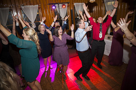 Wedding reception dancing at the YMCA of the Rockies in Estes Park, CO