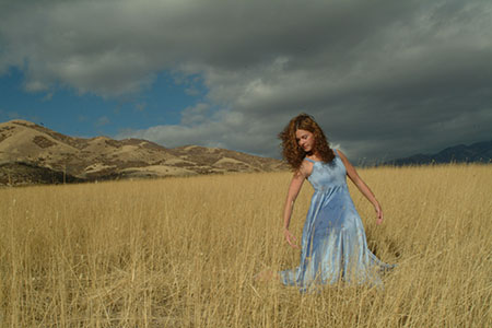 Woman posing in Nashville field