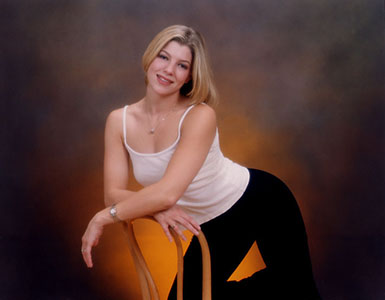 Dance school instructor posing for her portrait