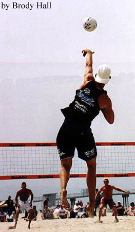 AVP volleyball tournament in Hermosa Beach, California