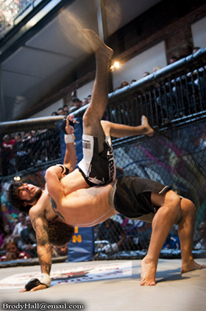 MMA fight take down