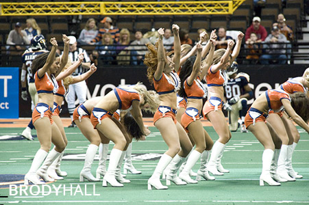 Colorado Crush Cheerleaders performing at Half Time