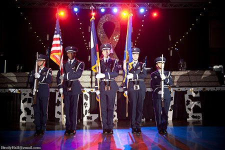 Color Guard performing during the National Anthem