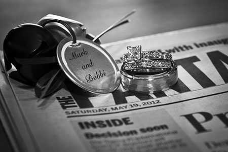 Wedding ring & Newspaper date