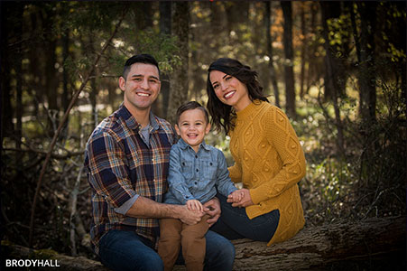 Family of 3 in the park