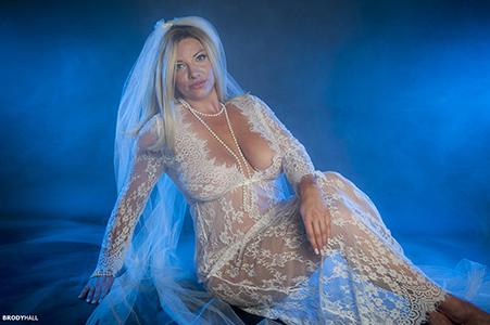 Kara in White bridal lingerie