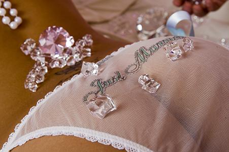 Jasmine in bridal panties