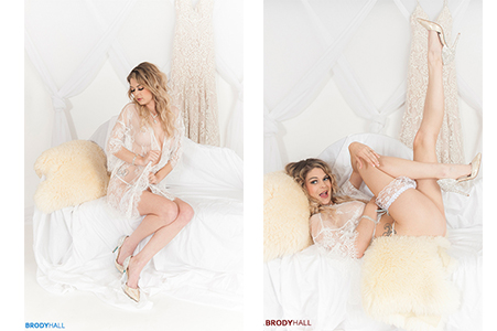 Brittany in Wedding lingerie